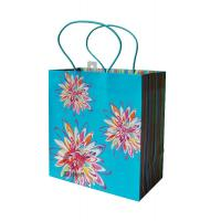 Wholesale Shopping UV stamping flower, 250gsm coated Printed Paper Carrier Bags for gift package from china suppliers