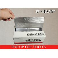 Wholesale Non Stick Pop Up Aluminum Foil Sheets , Pre Cut Aluminum Foil 14 Micron Thickness from china suppliers