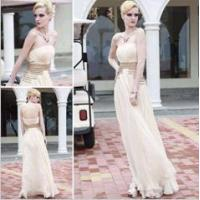 Wholesale beige strapless bridesmaid dresses,  noble beading bridesmaid dresses from china suppliers