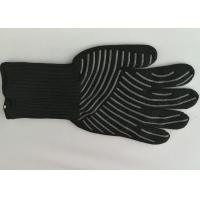 Wholesale Silicone Cooking Heat Resistant Gloves 500℃ High Temp Resistance Non Slip from china suppliers