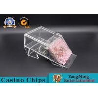 Wholesale 1 Deck/ Casino Poker Dealer Shoes Black Color Gambling Dedicated Acrylic Shoes from china suppliers