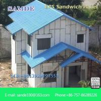EPS sandwich panel interior and exterior wall material for
