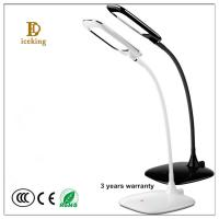 ABS Black & White color Ultrathin Wireless 5W Led Eye-protection Touch Dimmer Recharge Read Desk Lamp