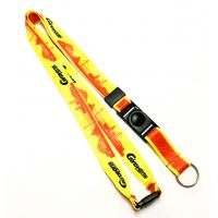 China Yellow Red Dye Sublimation Lanyards Sport Competition Activity Event Key Ring wholesale