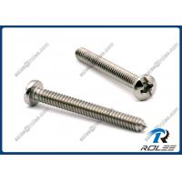 Wholesale Stainless Steel Philips Slotted Combo Pan Head Machine Screws, Type CA from china suppliers