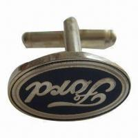Wholesale Cufflink for Men/Personalized/Ford Cufflinks, Made of Copper, Available in Various Colors/Shapes from china suppliers