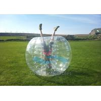 Wholesale Amusement Park Football Sports Inflatable Bubble Ball Game 1.7m diameter from china suppliers