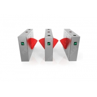 Wholesale Subway Station Access Flap Barrier Gate with RFID  Fingerprint System from china suppliers