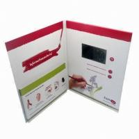 Quality Magnetic switch LCD screen Video Greeting Card for Precious Mothers'day gift for sale
