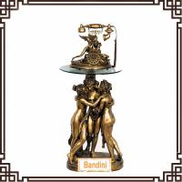 Buy cheap Home decorrative Antique Floor Telephone,Crafts, made of resin TL0214BK+G063BK from wholesalers