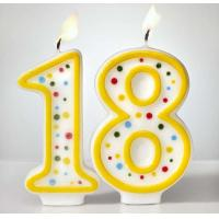 Wholesale Custom Arabic Number Birthday Candles 1 To 18 With Colorful Dot No Harmful from china suppliers