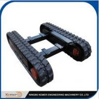 Wholesale Mini Rubber Track Undercarriage/Rubber Tracked Undercarriage/ small load chassis/DIY engineering machinary unit from china suppliers