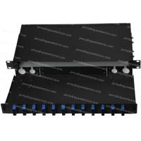 Buy cheap 1U Drawer-type Rack Mount Fiber Patch Panel Preloaded FC, SC, ST and LC from wholesalers