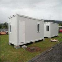 China Standard Flat Pack House , Movable Sandwich Panel Prefab Container House on sale