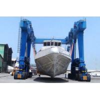 Wholesale Yello Blue Rubber Tyred Gantry Crane For Boat Yacht Handling Electric Motors Driving from china suppliers