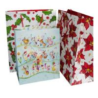 Wholesale Promotional Die cutting, Varnishing finishing, 157gsm coated Printed Paper Carrier Bags from china suppliers