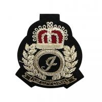 Hand Made Embroidered Bullion Blazer Badges , Military Bullion