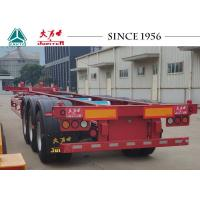 Quality Lightweight Gooseneck Skeletal Container Trailer With Airbag Suspension for sale