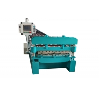 China 0.6mm 1219mm Steel Roofing Sheet Roof Tile Forming Machine on sale