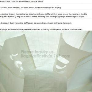 Buy cheap Flat bottom open mouth virgin PP woven bags 1000kgs 1 ton jumbo bags big fibc bulk bag for packing,breathable pp woven b from wholesalers