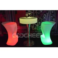 Lighted round illuminated cocktail table led bar furniture for Cocktail tables led
