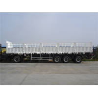 Wholesale Three Axle Fence Trailer Fence Cargo Trailer Tri Axles Livestock Sidewall Semi Trailer Truck For Sale from china suppliers