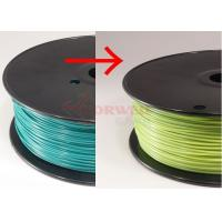 Wholesale Blue green to yellow green Color Changing Filament Material , 3MM PLA Filament 1KG / Spool from china suppliers