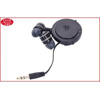 Wholesale Gold Plating 3.5MM Plug Retractable Earbuds Flat PU cable for Mobile phone from china suppliers