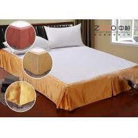 Wholesale Simple Style Wrap Around Bed Skirt With Split Corners OEM / ODM Available from china suppliers