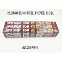 Buy cheap Aluminum Foil Paper Roll Aluminium Foil Packaging 45cm 8m 10micron Thickness 6 from wholesalers