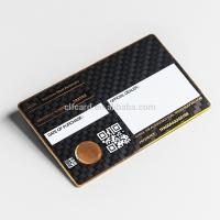 Wholesale 0.5mm  Luxury Matte Black Metal Business Cards  Carbon Fiber Patterned from china suppliers