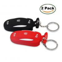 Wholesale Topfit Silicone Car KeyChain for Tesla Model X P90D-Black from china suppliers