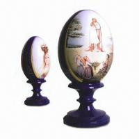 Wholesale Wooden Craft Eggs with Hand Paint, Various Designs are Available from china suppliers