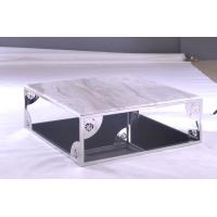 stainless steel with artifiail marble solid surface modern square coffee tables for office of. Black Bedroom Furniture Sets. Home Design Ideas