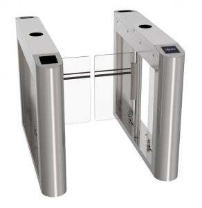 Wholesale Affordable stainless steel Swing turnstile gate entrance gate facial recognition EM and Mifare RFID reader from china suppliers