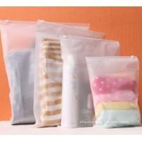 China BPA-Free Frosted Soft PEVA Travel Plastic Ziplock Bags Travel Kit Ziplock Pouches on sale
