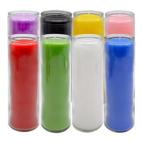 Wholesale Solid Color Glass 7 Day Candles from china suppliers