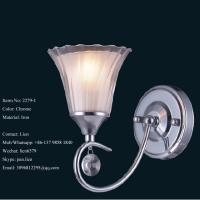 China Manufacturing indoor iron Chrome wall lamp