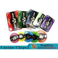 Wholesale 760pcs Acrylic Premium Bronzing Casino Poker Chip Set For Entertainment from china suppliers