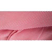 Wholesale T - Shirt  Horizontal Striped Fabric , 100% Cotton Pique Red And White Striped Fabric from china suppliers