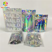 Buy cheap Foil Laminated Cosmetic Packaging Bag Laser Custom Hologram Mylar Zipper Lock from wholesalers