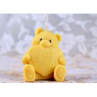 Cute Bear Personalized Candle Silicone Rubber Molds Non Stick Recycable