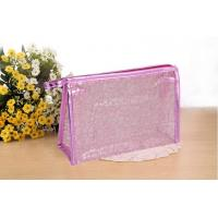 PVC Transparent Cosmetic Wash Bag Waterproof Geometric Dumpling Shape