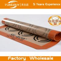 Wholesale Non-sticking  Heat resistant rectangle silicon baking sheet baking mat with FDA//LFGB approval from china suppliers