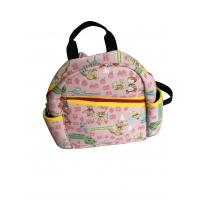 Wholesale Pink neoprene kids backpack with fairy tale scene heat-transfer printing on whole bag from china suppliers