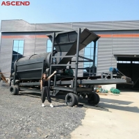 Wholesale 10 20 30 50 Ton Per Hour Quarry Sand Gravel Rotary Trommel Drum Screen Machine from china suppliers