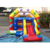 Commercial grade inflatable bouncy castle with slide for outdoor kids party