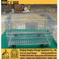 China Wire Mesh Container ROLLER , Wire mesh cage with caster, metal wire basket with wheels, Roller galvanized wire mesh cage wholesale