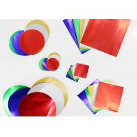 Wholesale Gummed Colored Paper Circles Gloss Finish Combined With Squares And Circles from china suppliers