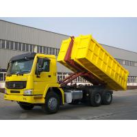 Wholesale HOWO 6X4 Carriage Removable Garbage Collection Truck Yellow Color 290/336/371hp from china suppliers
